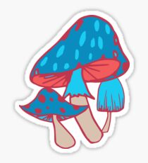 Fantasy Mushrooms Sticker