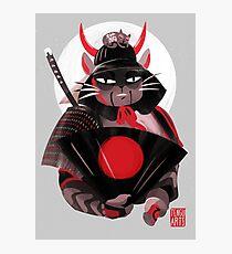 Samurai Cat Photographic Print