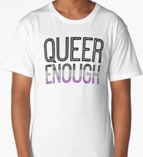 Asexual Pride - QUEER ENOUGH Long T-Shirt