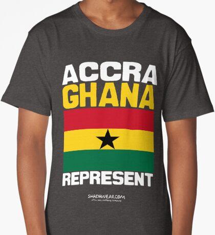 Ghana Represent Long T-Shirt