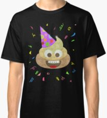 Gold Poop Funny Kids Emoji Birthday Party Classic T-Shirt