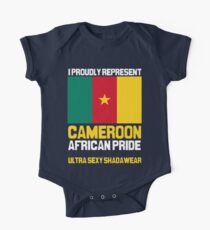 Cameroon, represent proudly One Piece - Short Sleeve