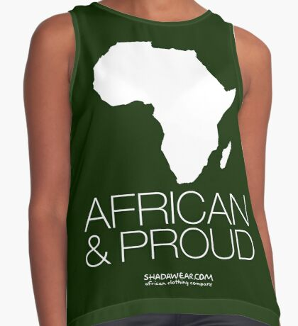 African & proud Contrast Tank