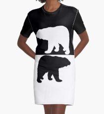 Polar bear Graphic T-Shirt Dress