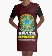 Brazil represent Graphic T-Shirt Dress