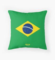 Brazil represent Throw Pillow