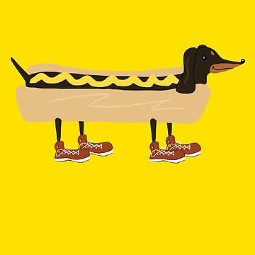 Portrait of a Wiener Dog by Jordonomay