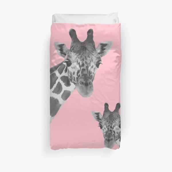 Giraffe Pink Duvet Cover