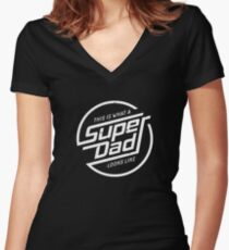 Super Dad T-shirt Women's Fitted V-Neck T-Shirt