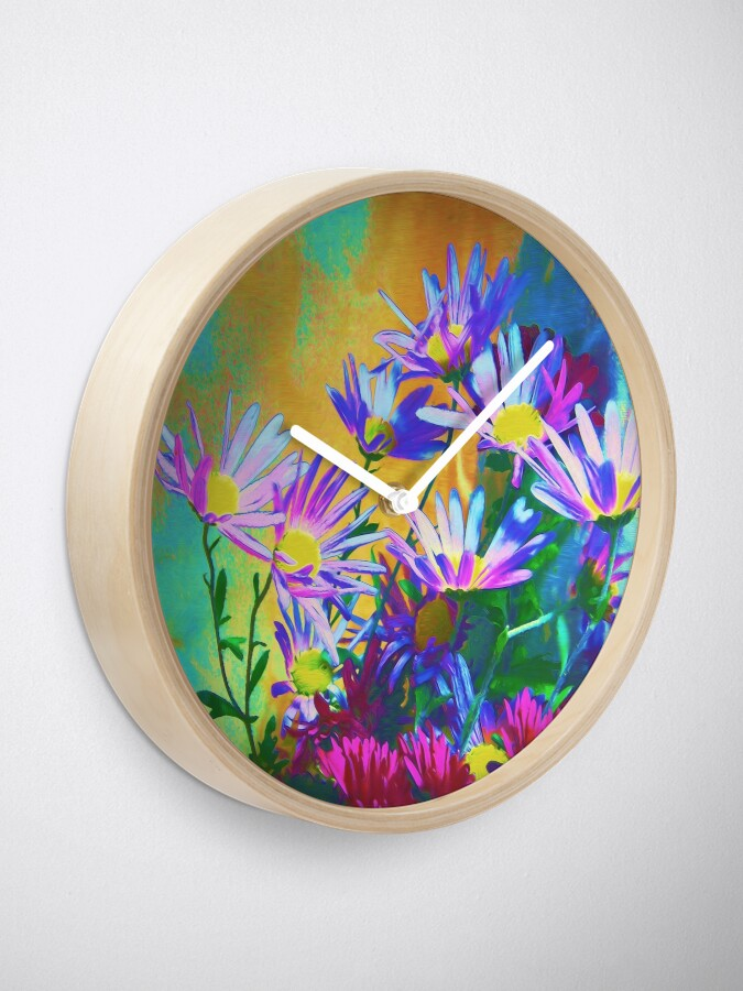 Alternate view of Flowers bloom Clock