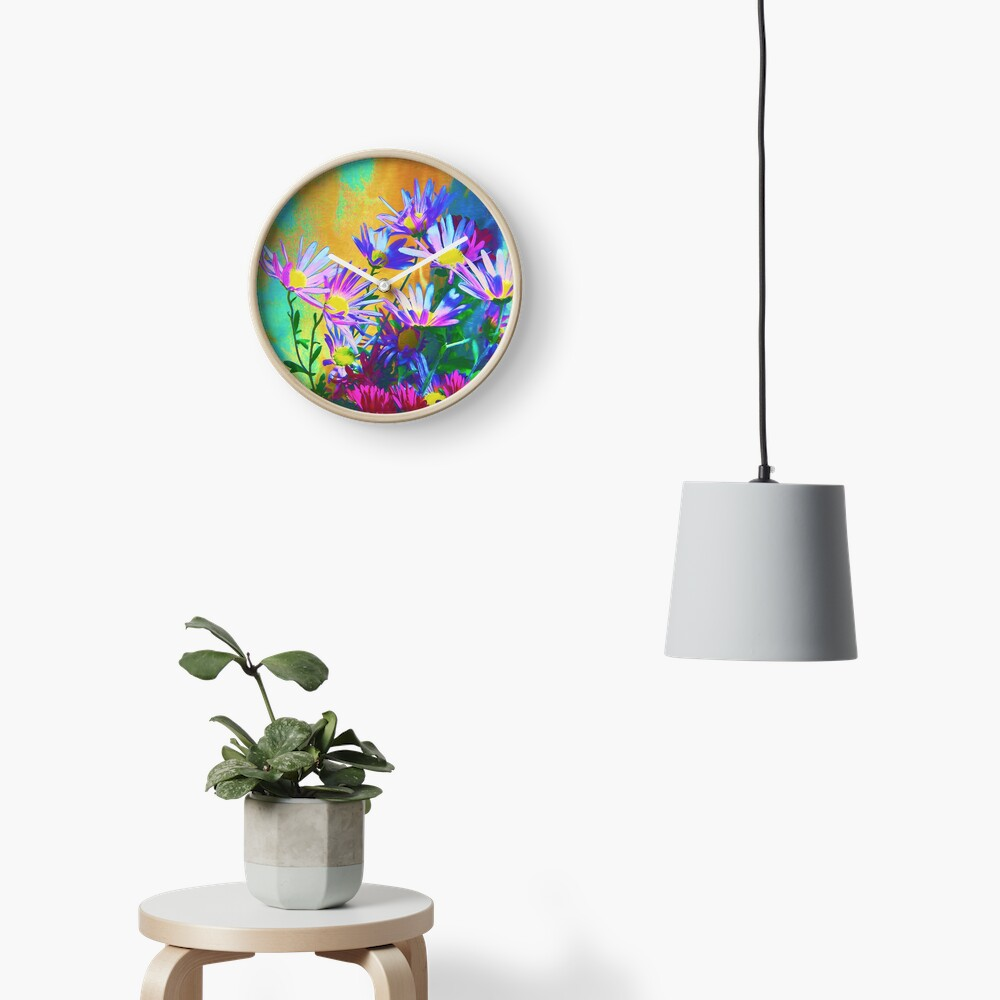 Flowers bloom Clock