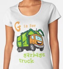 Garbage Truck for Boys - G is for Garbage Truck Women's Premium T-Shirt