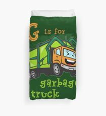 Garbage Truck for Boys - G is for Garbage Truck Duvet Cover