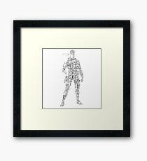 Metal Gear Solid - Solid Snake - Typography Framed Print