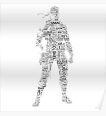 Metal Gear Solid - Solid Snake - Typography Poster