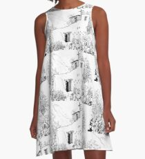 Chapel at DeGrazia's Gallery in the Sun A-Line Dress