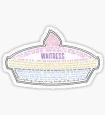 Kellnerin Pie Sticker