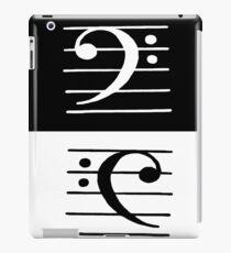 Bass clef iPad Case/Skin