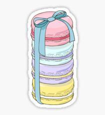 Macarons present. Sticker