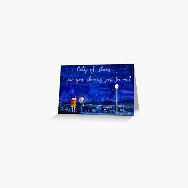 Nuit étoilée Lalaland Carte de vœux