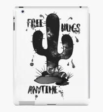 Free Hugs Anytime Funny Cactus Hug Inkblot iPad Case/Skin