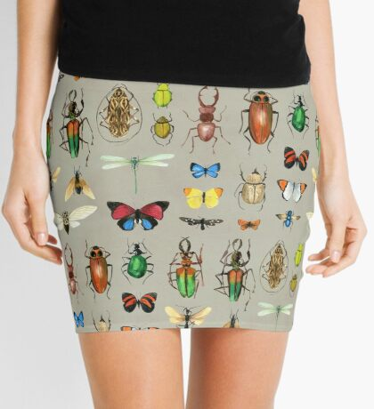 The Usual Suspects - Insects on grey Mini Skirt