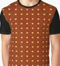 Picnic Basket Pattern Graphic T-Shirt