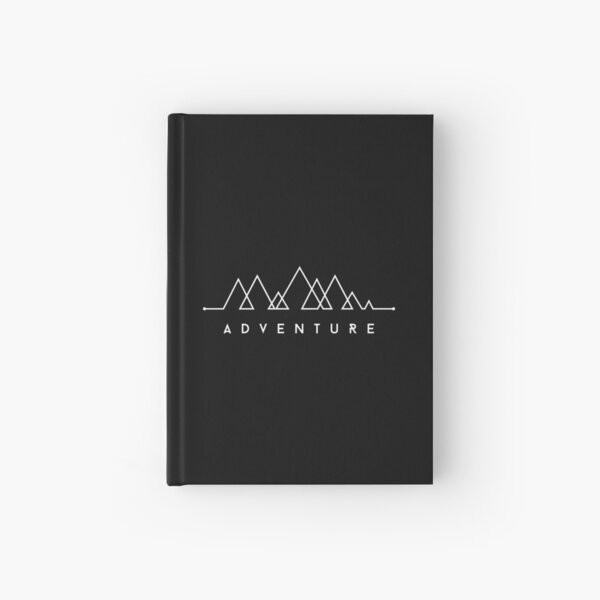 Minimalist: Adventure (White on Black) Hardcover Journal