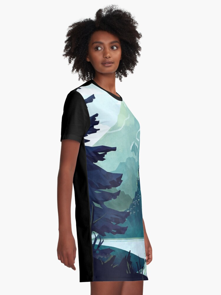 Alternate view of Canadian Mountain Graphic T-Shirt Dress