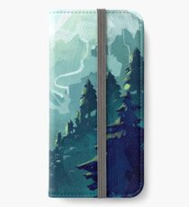 Kanadischer Berg iPhone Flip-Case/Hülle/Klebefolie