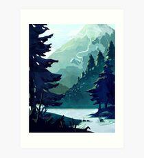 Canadian Mountain Art Print