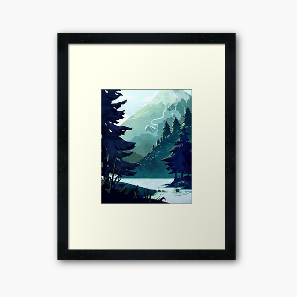 Canadian Mountain Framed Art Print