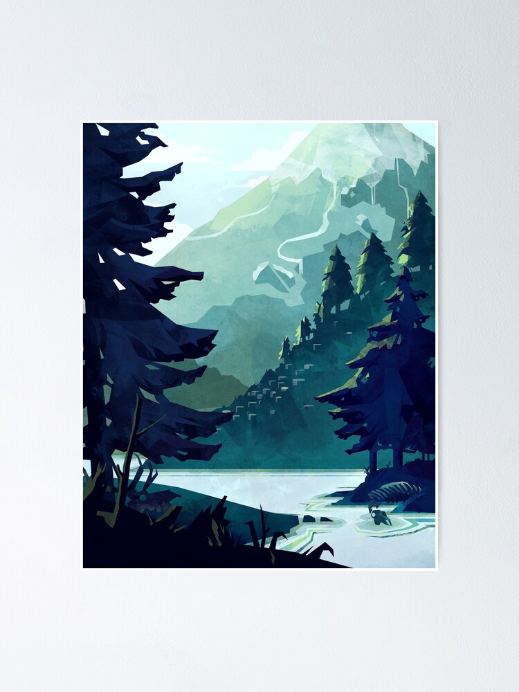 Alternate view of Canadian Mountain Poster