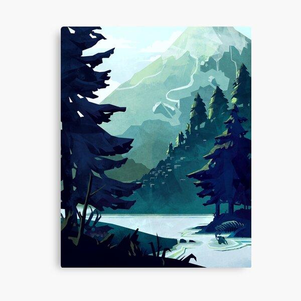 Canadian Mountain Canvas Print