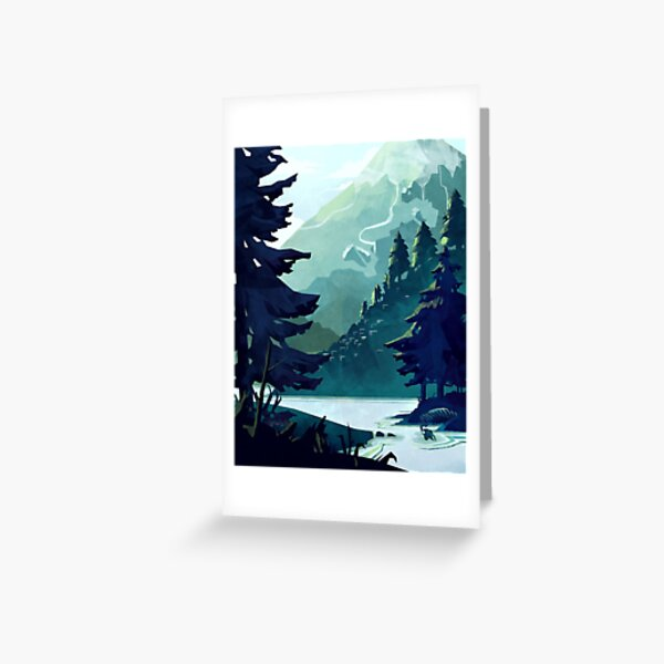 Canadian Mountain Greeting Card