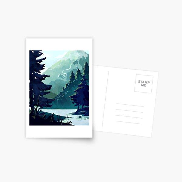 Canadian Mountain Postcard