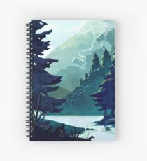 Canadian Mountain Spiral Notebook