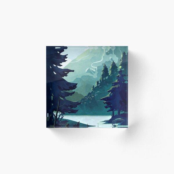 Canadian Mountain Acrylic Block