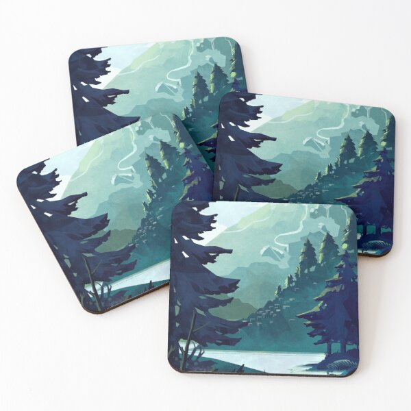 Canadian Mountain Coasters (Set of 4)