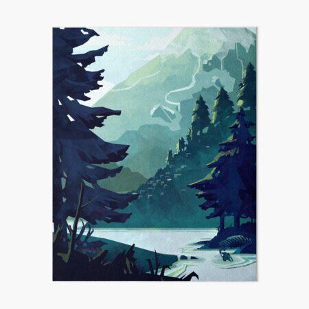 Canadian Mountain Art Board Print