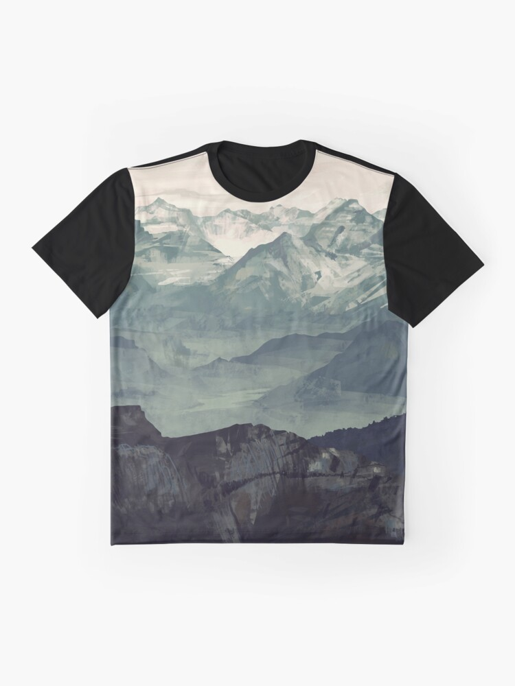 Alternative Ansicht von Berg Nebel Grafik T-Shirt