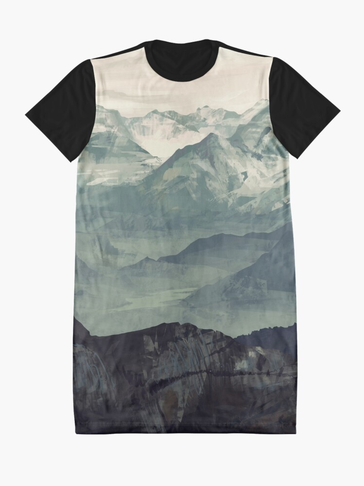 Alternate view of Mountain Fog Graphic T-Shirt Dress