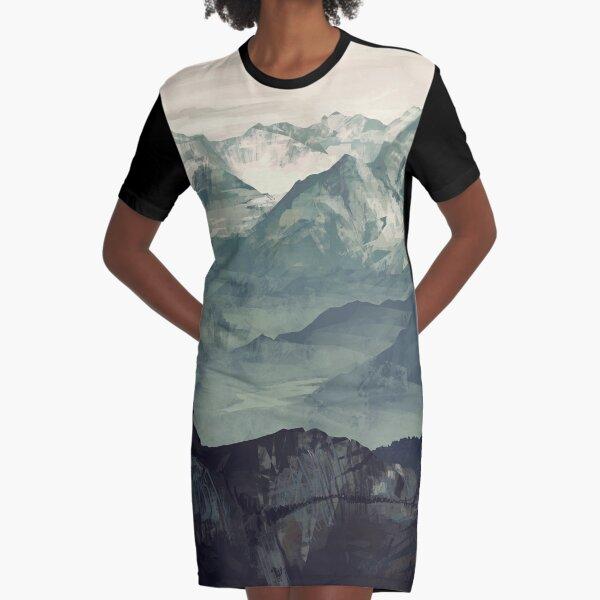 Mountain Fog Graphic T-Shirt Dress