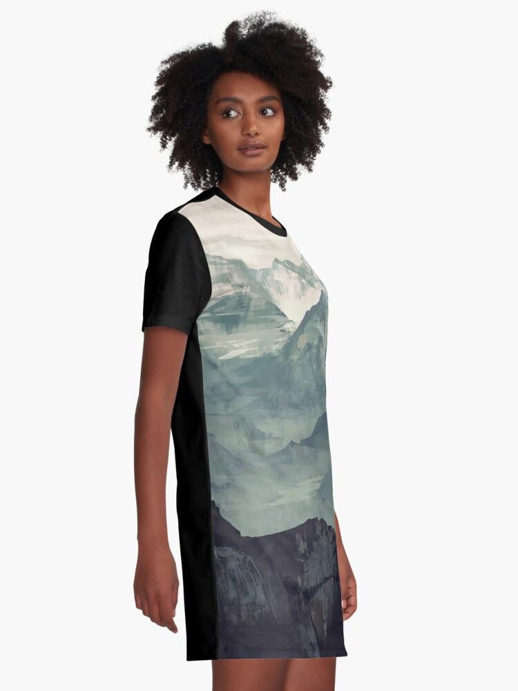Alternate view of Mountain Fog Graphic T-Shirt Dress