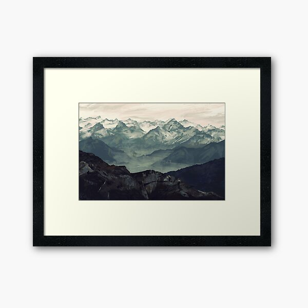 Mountain Fog Framed Art Print