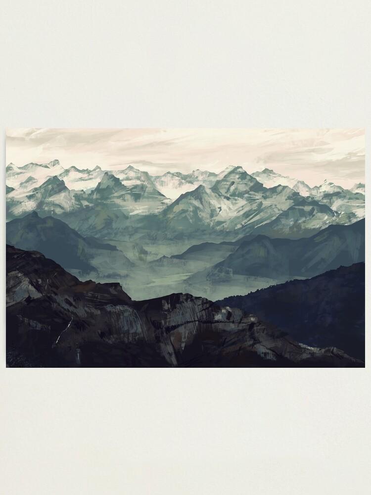 Alternate view of Mountain Fog Photographic Print