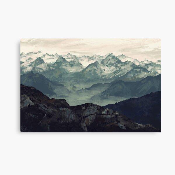 Niebla de la montaña Lienzo