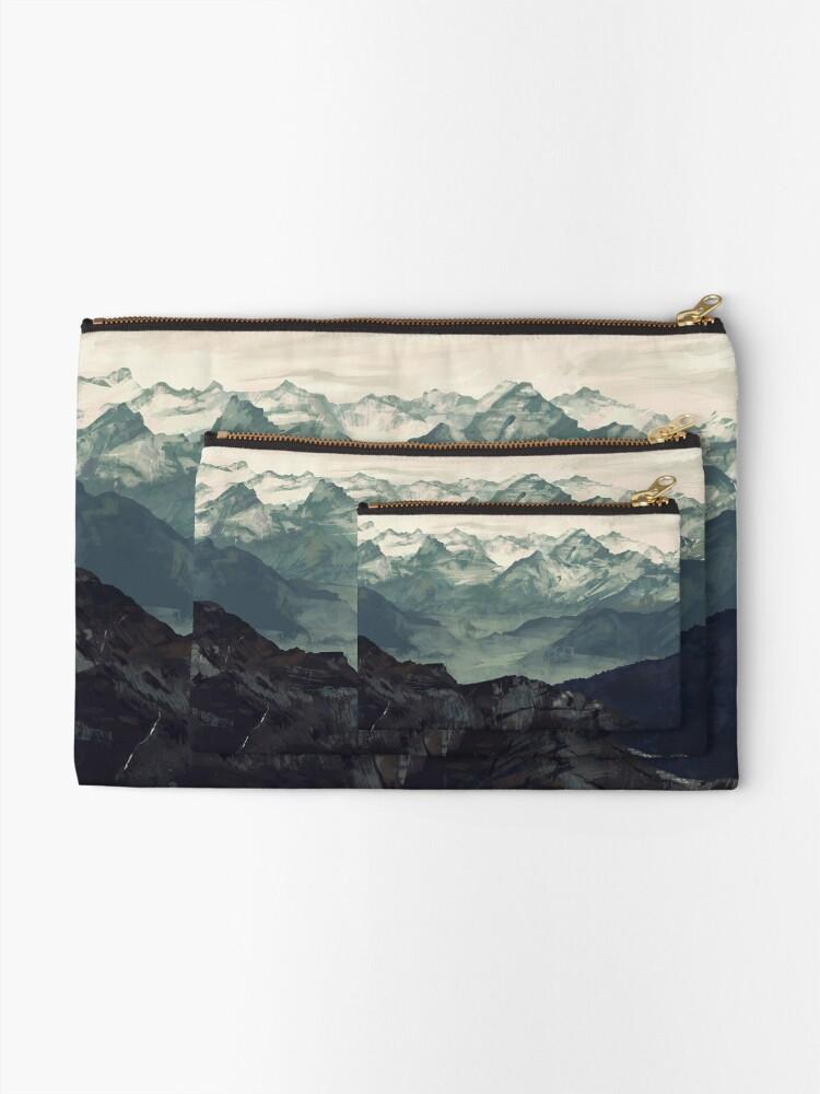 Alternate view of Mountain Fog Zipper Pouch