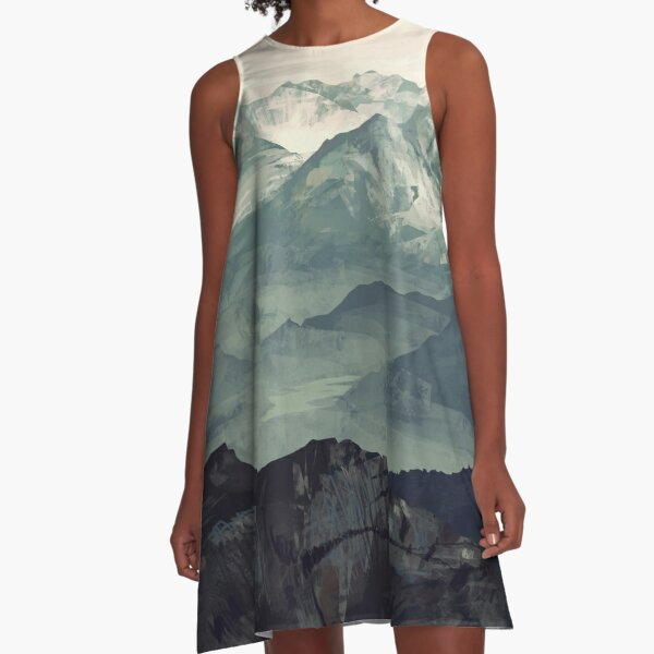 Mountain Fog A-Line Dress