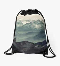 Mountain Fog Drawstring Bag